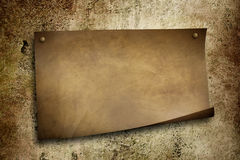 Old paper on grunge wall. Old paper on grunge sharp wall Royalty Free Stock Photo