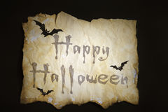 Old paper Halloween of background. Old paper Halloween with Bat Royalty Free Stock Images