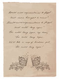 Old Paper with Hand-Written Text and Beer Mugs royalty free illustration