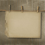 Old paper are hanging in the row Royalty Free Stock Photos