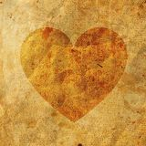 Old Paper On Heart Royalty Free Stock Photos