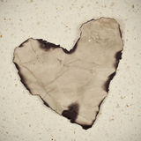 Old paper heart Royalty Free Stock Image