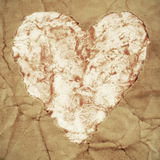 Old paper heart Royalty Free Stock Photo