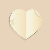 Old paper heart Royalty Free Stock Photos