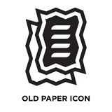 Old paper icon vector isolated on white background, logo concept stock illustration