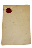 Old paper isolated. Old paper with old stamp Royalty Free Stock Photos