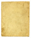 Old paper isolated. Old paper page isolated on the white background stock photo