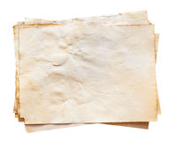 Old paper on isolated. With clipping path Royalty Free Stock Photography