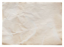 Old paper on isolated. With clipping path Stock Images
