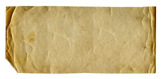 Old Paper Isolated Royalty Free Stock Photography