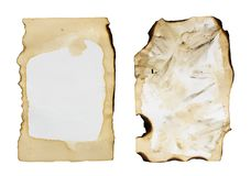 Old paper isolated on a white background.  Royalty Free Stock Photo