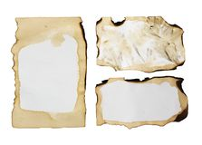 Old paper isolated on a white background.  Royalty Free Stock Images