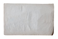 Old paper isolated on white background. With clipping path Stock Photos