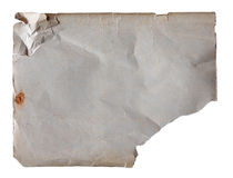 Old paper isolated on white background. With clipping path Stock Photo