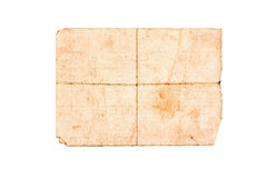 Old paper isolated. On a white background Royalty Free Stock Images