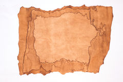 Old paper isolated. On white background Stock Images