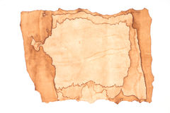 Old paper isolated. On white background Stock Photography