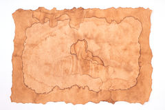 Old paper isolated. On white background Stock Photos