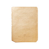 Old paper isolated. On white background Stock Image