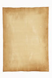 Old paper isolated on white background Stock Photos