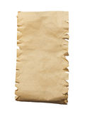 Old paper isolated on a white background.  Stock Photos