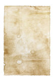 Old paper isolated on white. Background Stock Photo