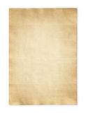 Old paper isolated on white background. Old paper isolated on white for background Royalty Free Stock Photos