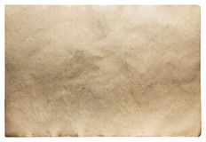 Old paper isolated Royalty Free Stock Photo