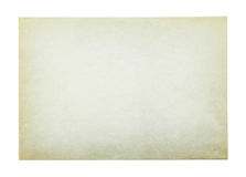 Old paper isolated on white background , with clipping path. Old paper isolated on white background , with clipping path Royalty Free Stock Photography