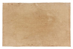 Old paper isolated on white background , with clipping path Royalty Free Stock Image