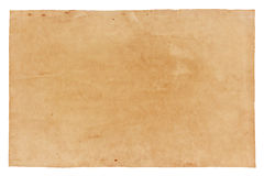 Old paper isolated on white background , with clipping path.  Stock Image