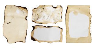 Old paper isolated on a white background.  Stock Photo