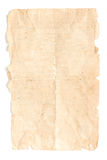 Old Paper Isolated. In white background. Vintage paper Royalty Free Stock Photo