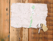 Old paper and key Stock Photos