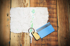 Old paper and key Royalty Free Stock Images