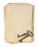 Old paper and keys. Royalty Free Stock Image