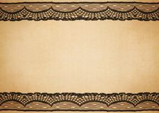 Old paper with lace design. Old vintage paper with lace design Royalty Free Stock Image
