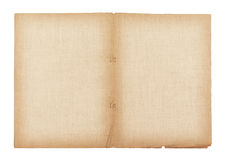 old paper and linen texture isolated on white background , clipping path Royalty Free Stock Images
