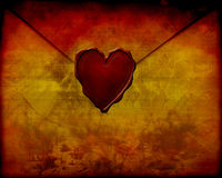 Old paper love letter Royalty Free Stock Photos