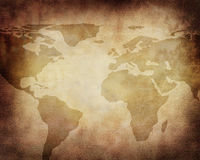 Old paper map Stock Photography