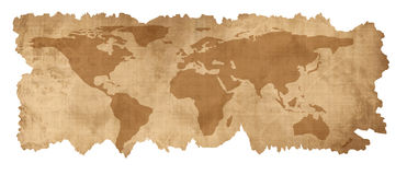 Old paper map Stock Images