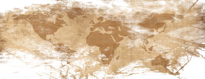 Old paper map Royalty Free Stock Images