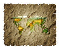Old paper map  world. Stock Image