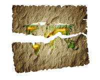 Old paper map  world. Stock Photos