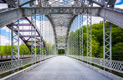 The Old Paper Mill Road Bridge over Loch Raven Reservoir in Balt Stock Photography