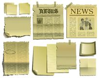 Old paper and newspaper royalty free illustration