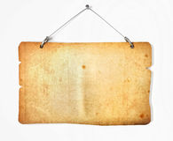 Old paper notice board Stock Photography
