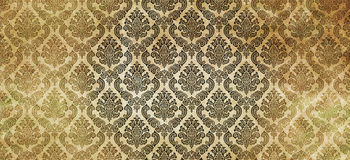 Old paper with old-fashioned patterns. Royalty Free Stock Image