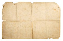 Old paper. Old vintage paper on a white background, isolated royalty free stock images
