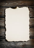 Old Paper On Wood Texture Stock Photography